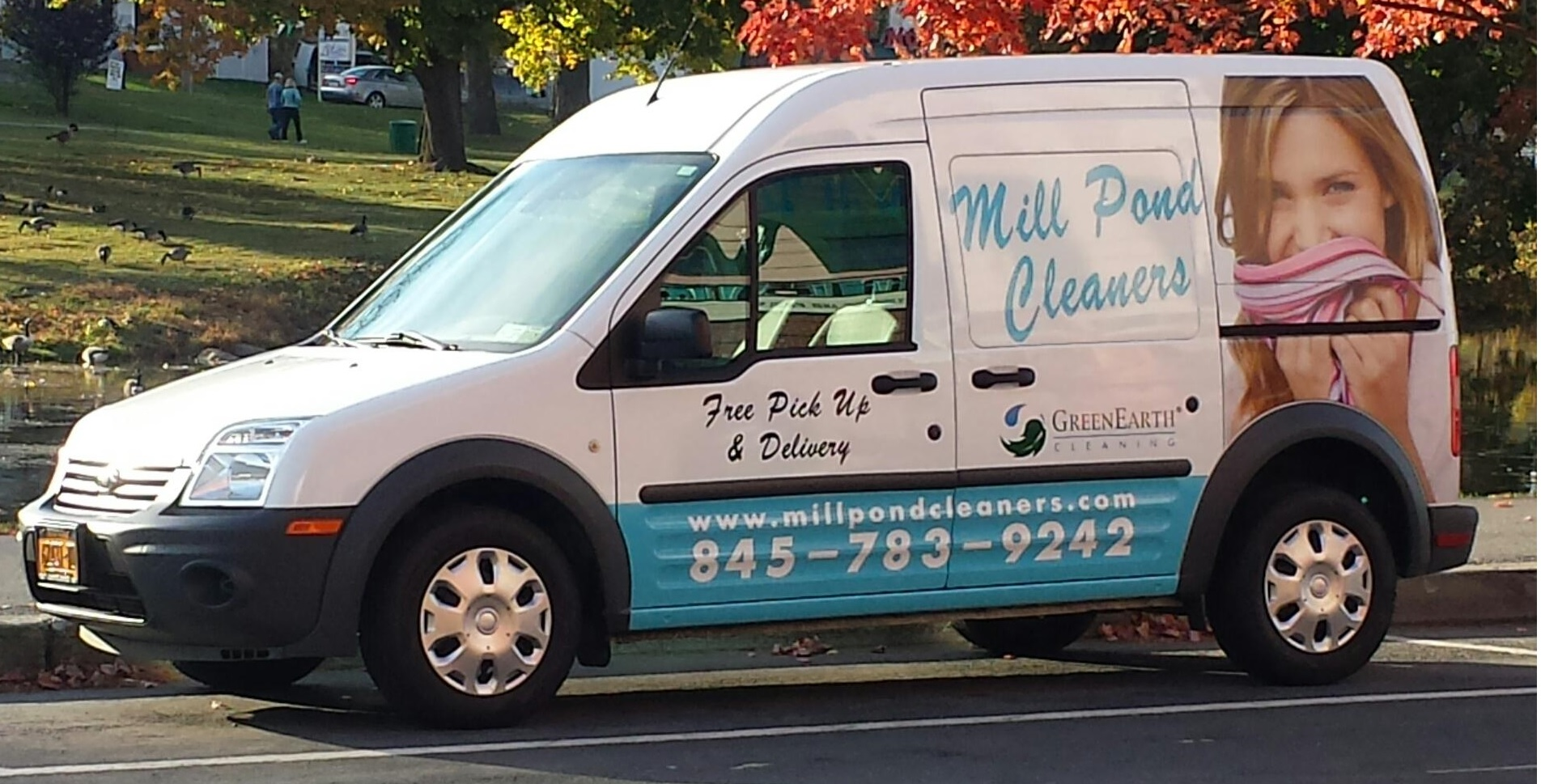 Millpond Cleaners will pick up and deliver!